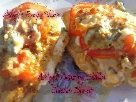 Ashley's Amazing Spinach & Cheese Stuffed Chicken Breasts* If you need help with your weight loss journey - Skinny Fiber flat out works start here and order yours to date www.ontolosing.com