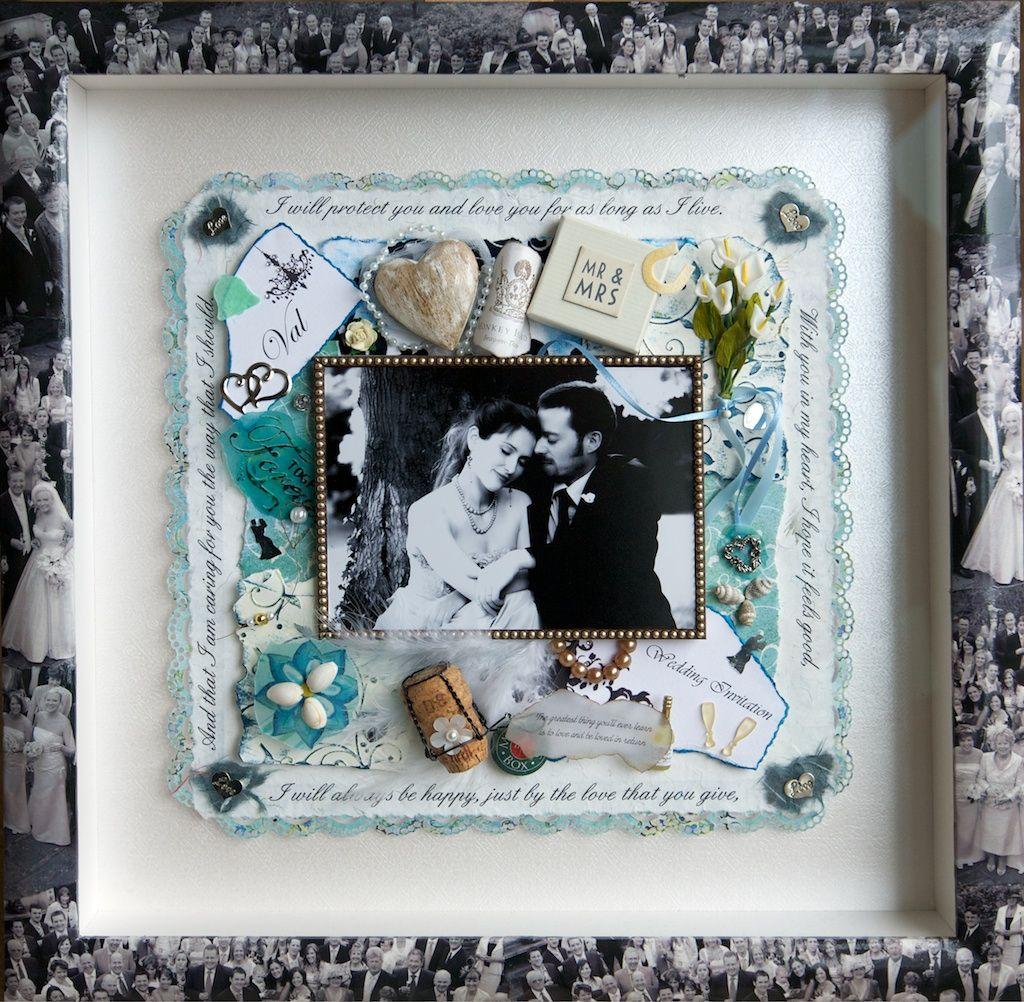 Framed wedding memorabilia framed photograph surrounded