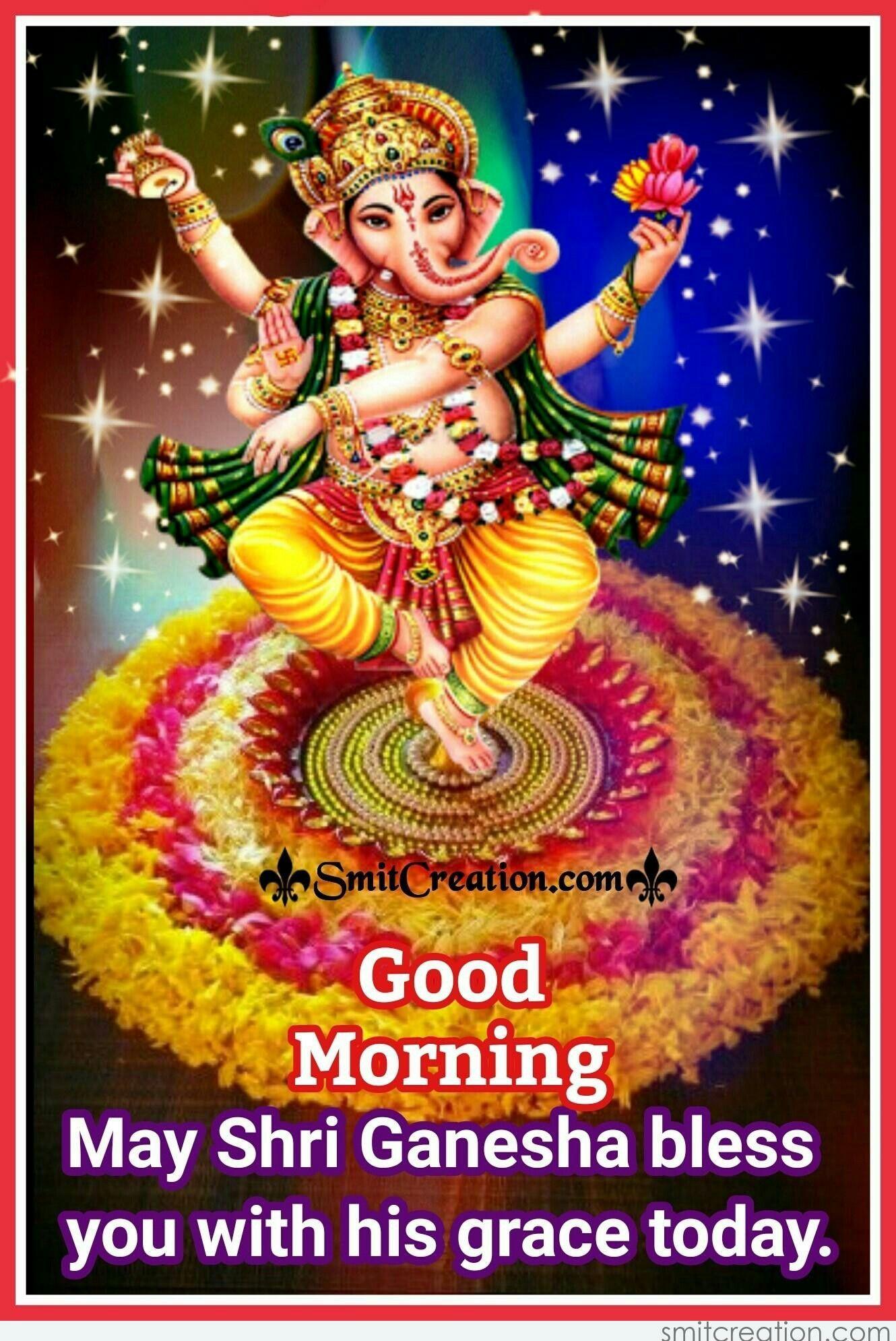 Pin By Bhaskar On Gif Morning Images Shree Ganesh Shri Ganesh