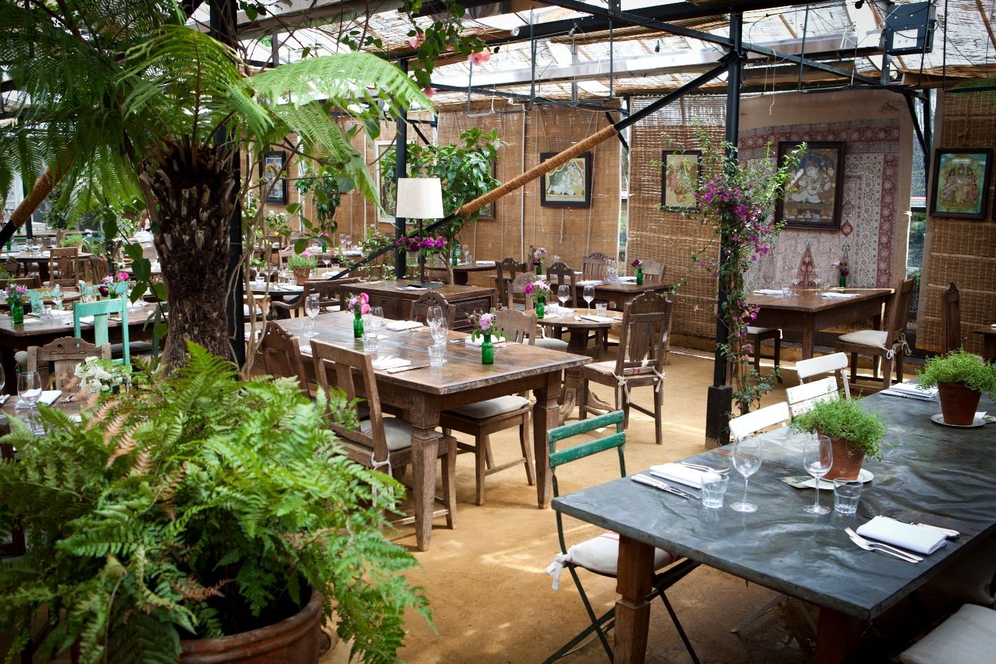 Garden Centre: The Café, Petersham Nurseries, Church Lane (signed Posted