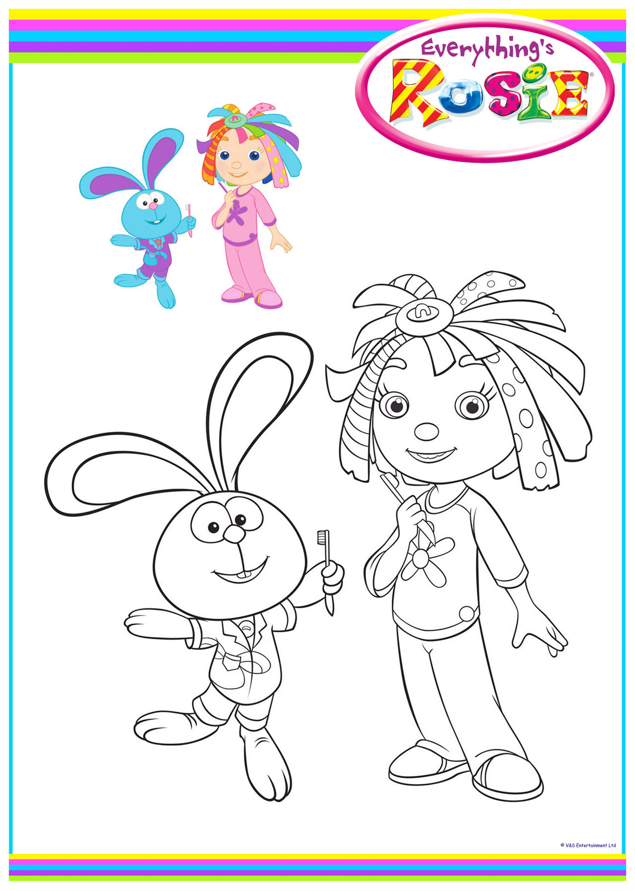Everything S Rosie Colouring Sheets