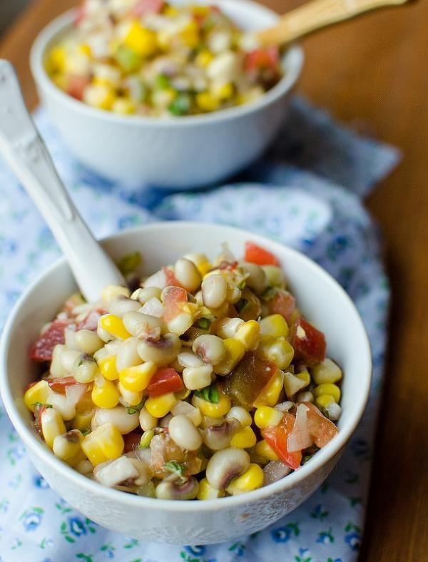 TR: Summer Tomato and Black Eyed Pea Salad