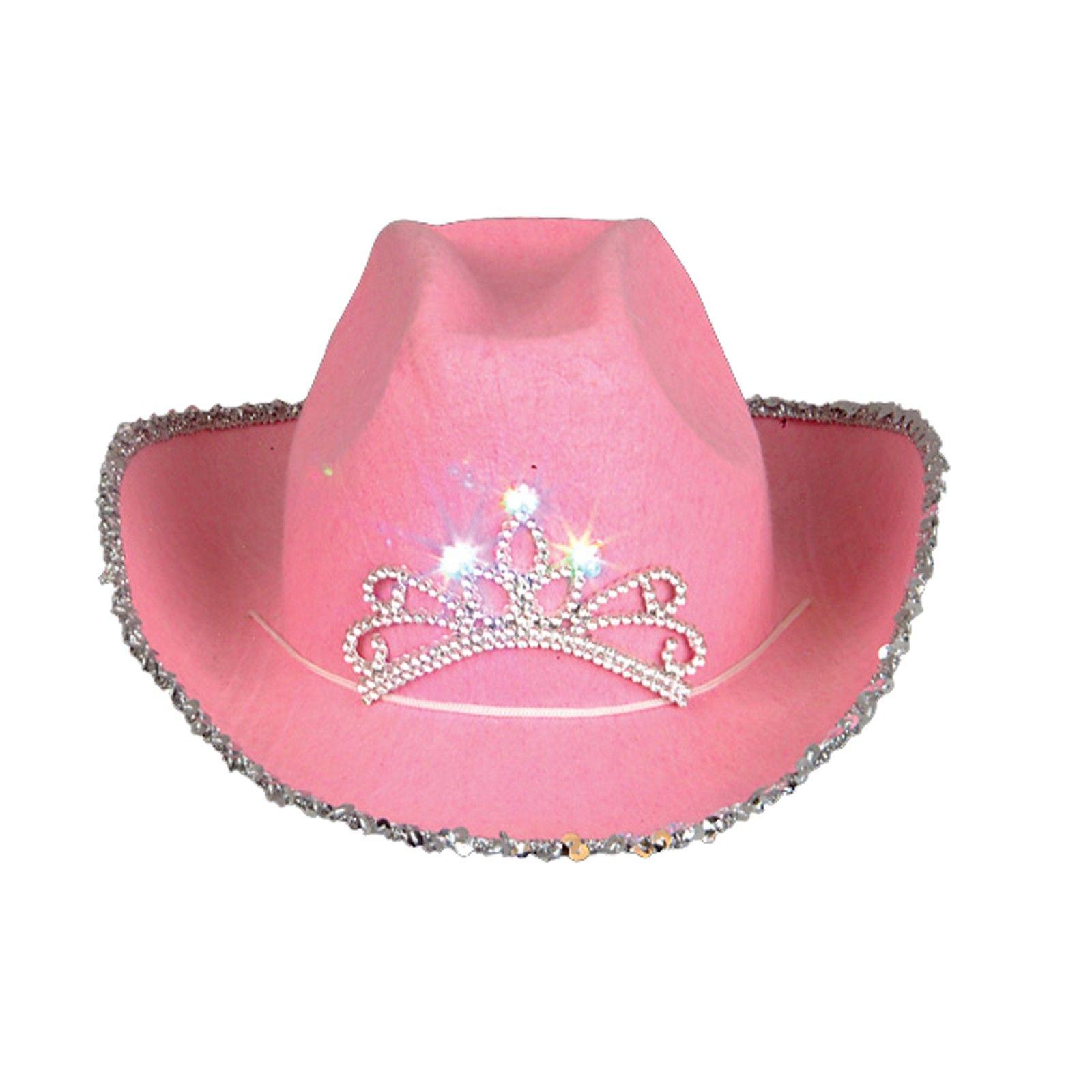 d9ac93cb64d1d Blinking Pink Tiara Cowboy Hat (Child)
