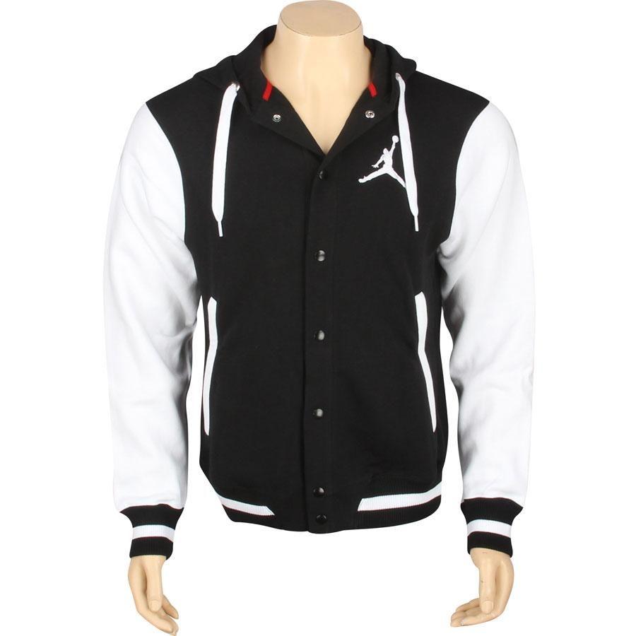 2fc9a85c305642 Jordan Varsity Jacket (black   white) 451582-013 -  94.99