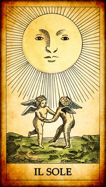 Risultati immagini per tarocchi il sole