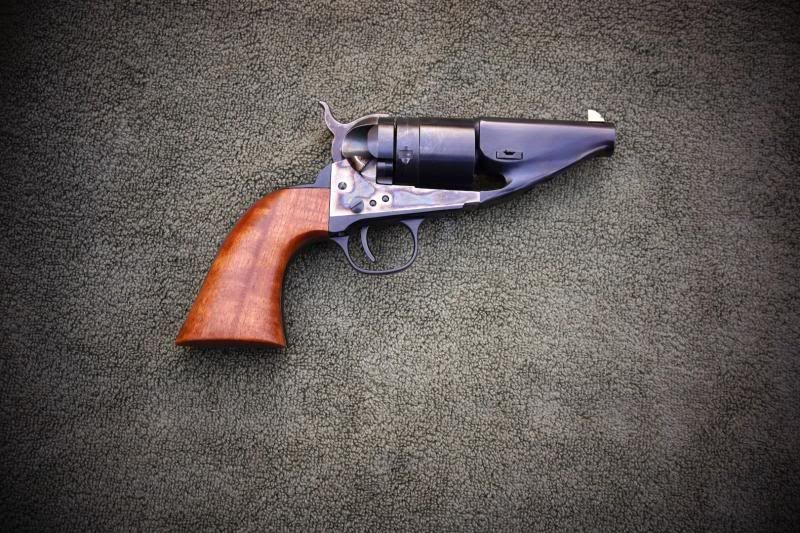 """1860/2 Colt """"Hide-out"""" Revolver converted to cartridge."""