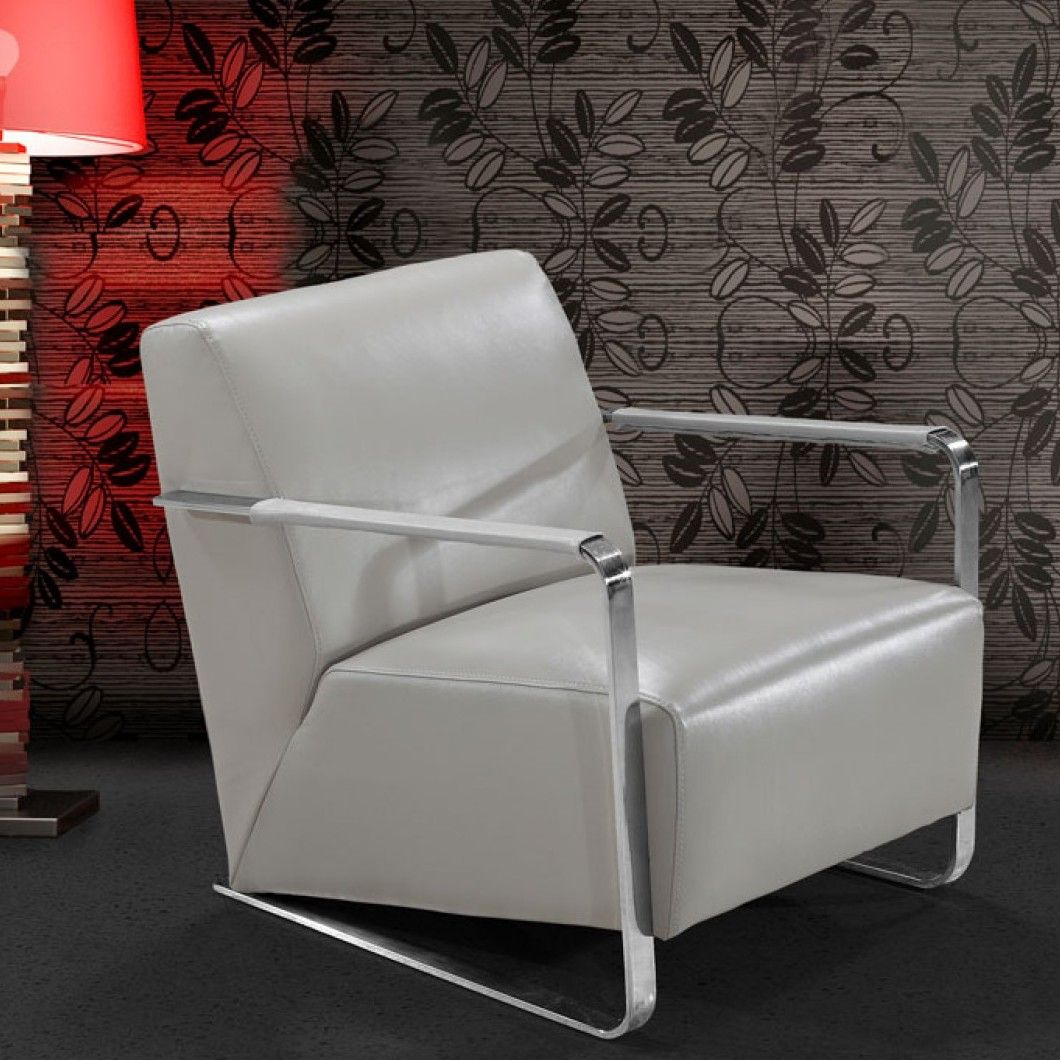 Divani Casa Bison Leather Artm Chair