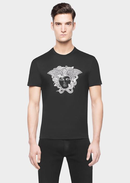 ffc2e7d9 VERSACE Embellished Medusa T-Shirt. #versace #cloth #embellished medusa t- shirt