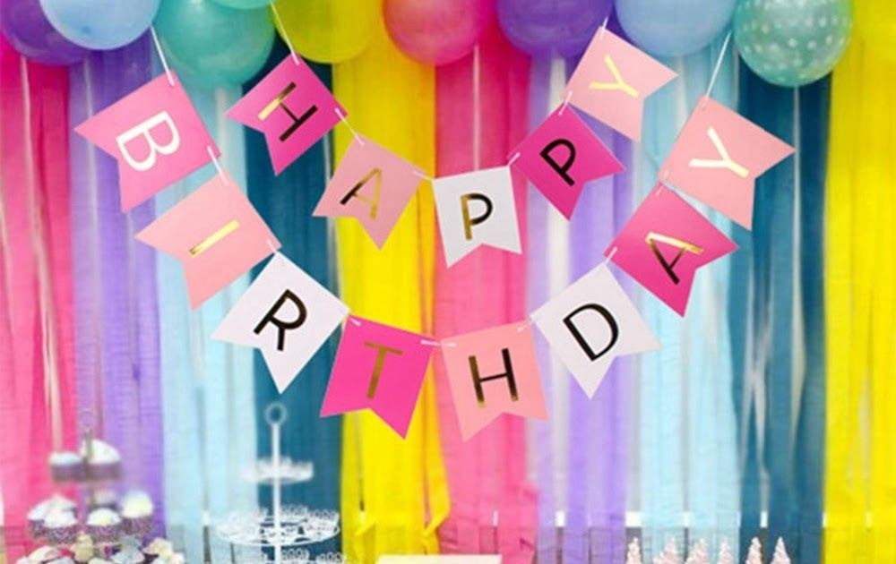 Paper Happy Birthday Banner Party Bunting Garland for Birthday Party Decorations