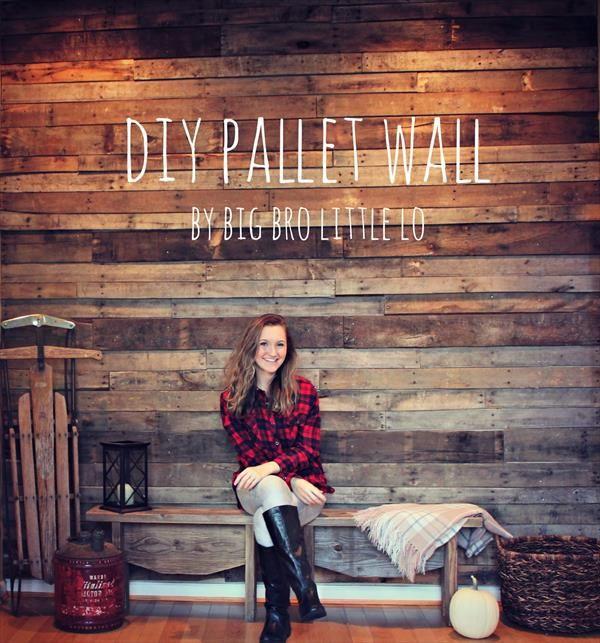 DIY Easy Pallet Wood Wall