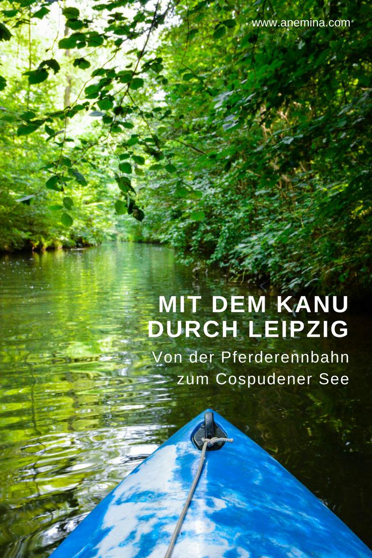 Leipzig Fluss kanufahren in leipzig aus der stadt an den see grünste stadt