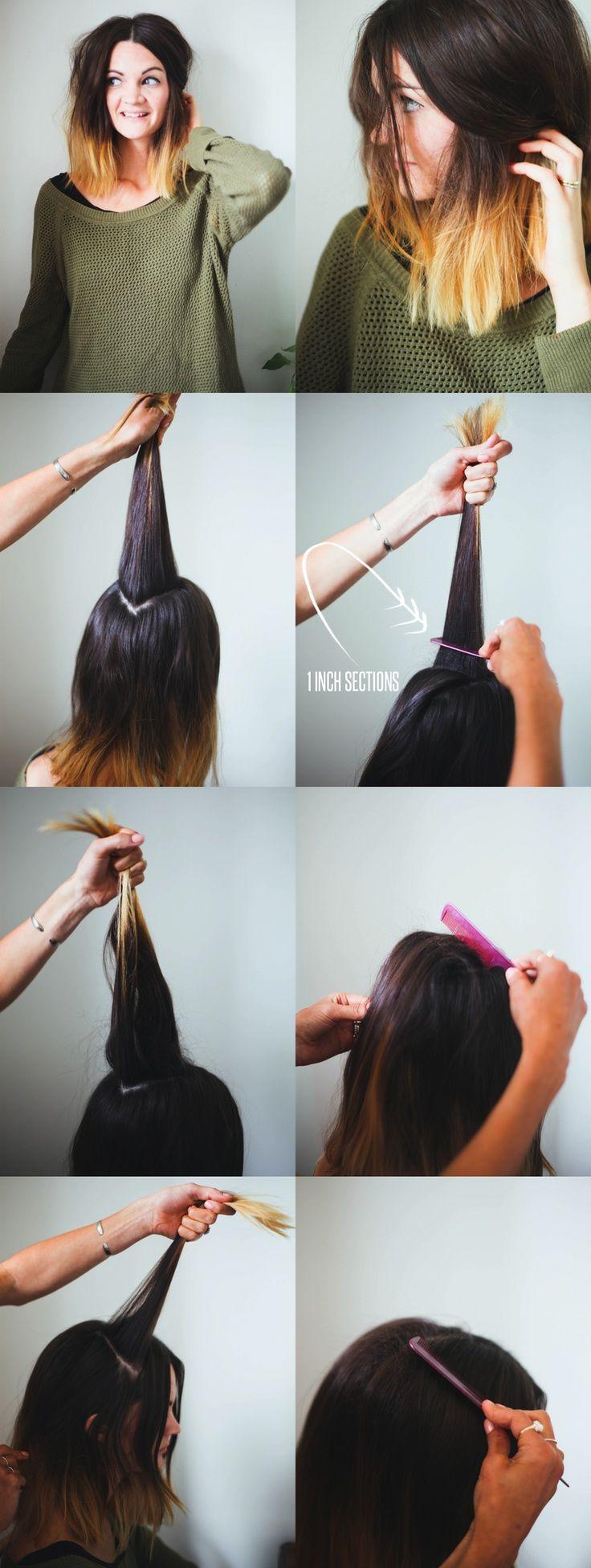 Hair Tutorial // How to Teased hair,