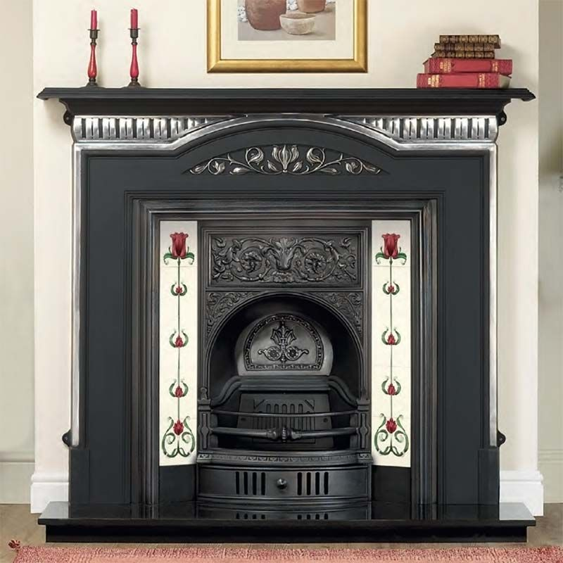 Dublin Cast Iron Fireplace Insert | Edwardian Fireplaces