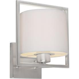8 0 In W 1 Light Brushed Nickel Ambient Hardwired Wall Sconce Lw