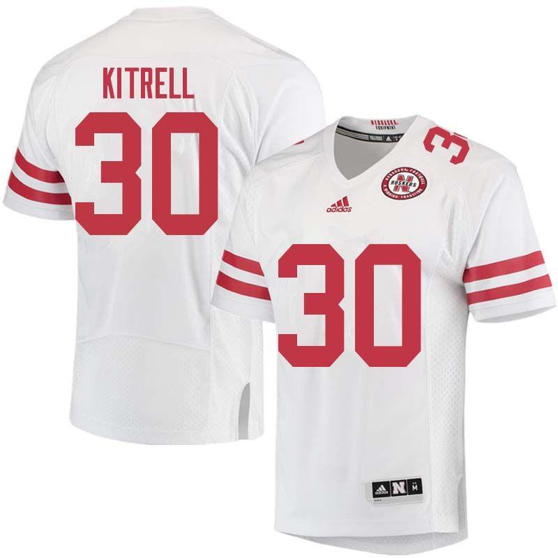 f22d03a47 Men  30 Bo Kitrell Nebraska Cornhuskers College Football Jerseys Sale-White