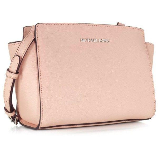 Michael Kors Selma Saffiano Leather Medium Messenger Bag (24425 RSD) ❤  liked on Polyvore 934db28bbb19e