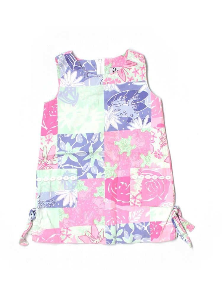 Toddler Girl Lilly Pulitzer Charming Patch Work Shift Dress Size 4T #LillyPulitzer #Everyday