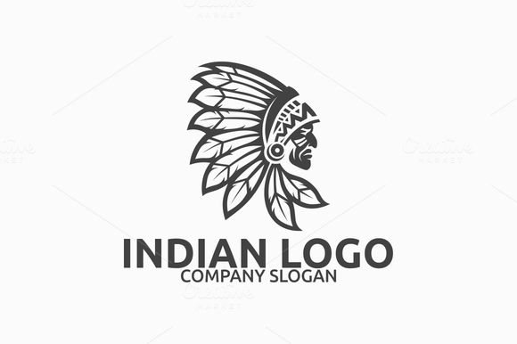 72cc9a76 Indian Logo by Brandlogo on @creativemarket | Logo Design | Logos ...