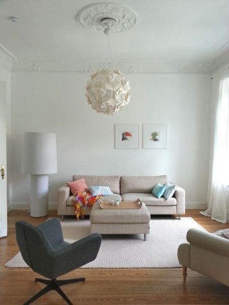 Nudeldicke Deern Stuck, Mint und Tags - wohnzimmer weis rosa