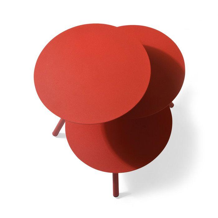 Beistelltisch Trio Rot   Tische, Beistelltische, Arbeitstische