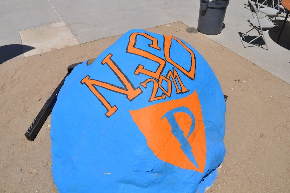 """The """"rock"""" at New Student Orientation 2011"""