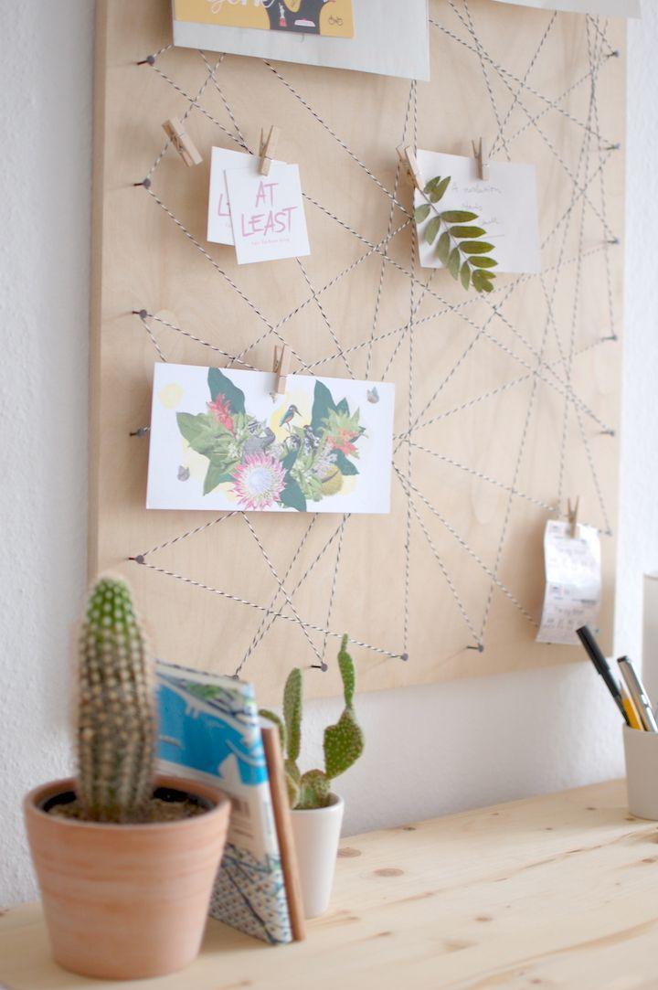 Memoboard Selber Machen pinnwand selbst machen memoboard diy living