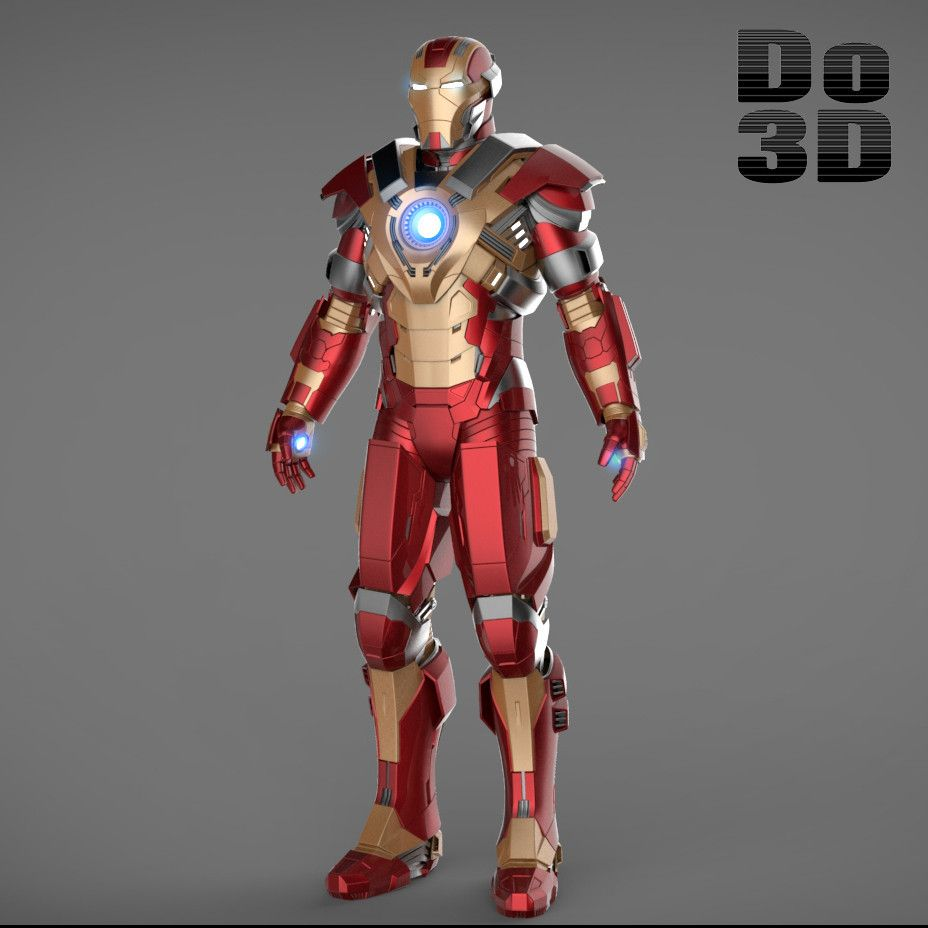 Wonderful 3D Printable Suit: Mark XVII Armor (Model: HeartBreaker MK 17) From Iron