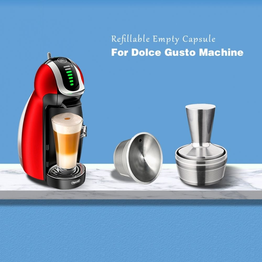 New Nescafe Dolce Gusto Capsule Refill Stainless Steel