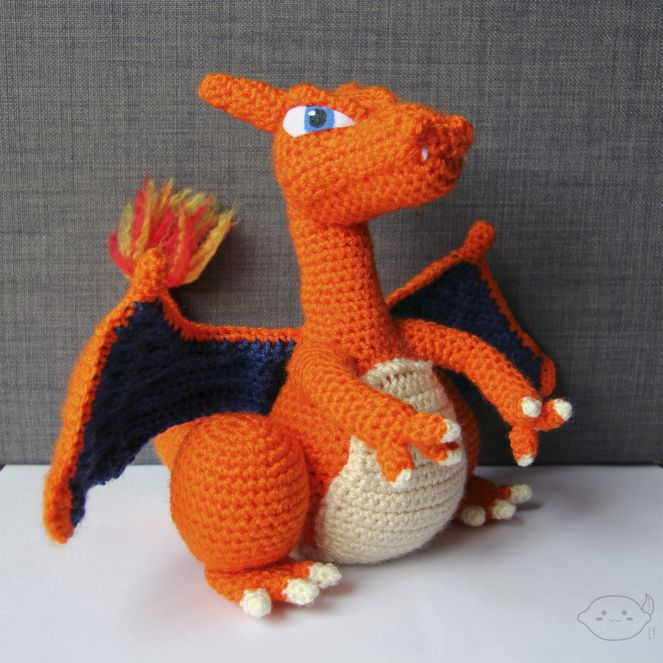 Charizard's snout - Amigurumi Pattern by Miahandcrafter - YouTube | 663x663