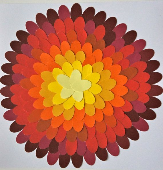 Paint Chip Wall Art Yellow Orange and Red Hues by LxSDesigns, $15.00 ...