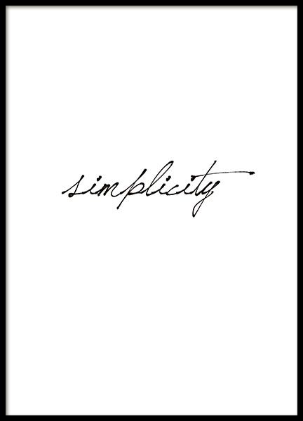 Print with a text in cursive.