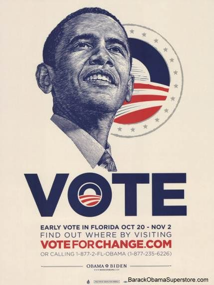COOL BARACK OBAMA FLORIDA CAMPAIGN POSTER | Design. | Pinterest ...