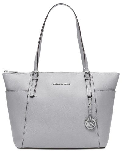 2a0fd5f7d5 Michael Kors | Silver Michael Jet Set Item Large East West Top Zip Tote |  Lyst