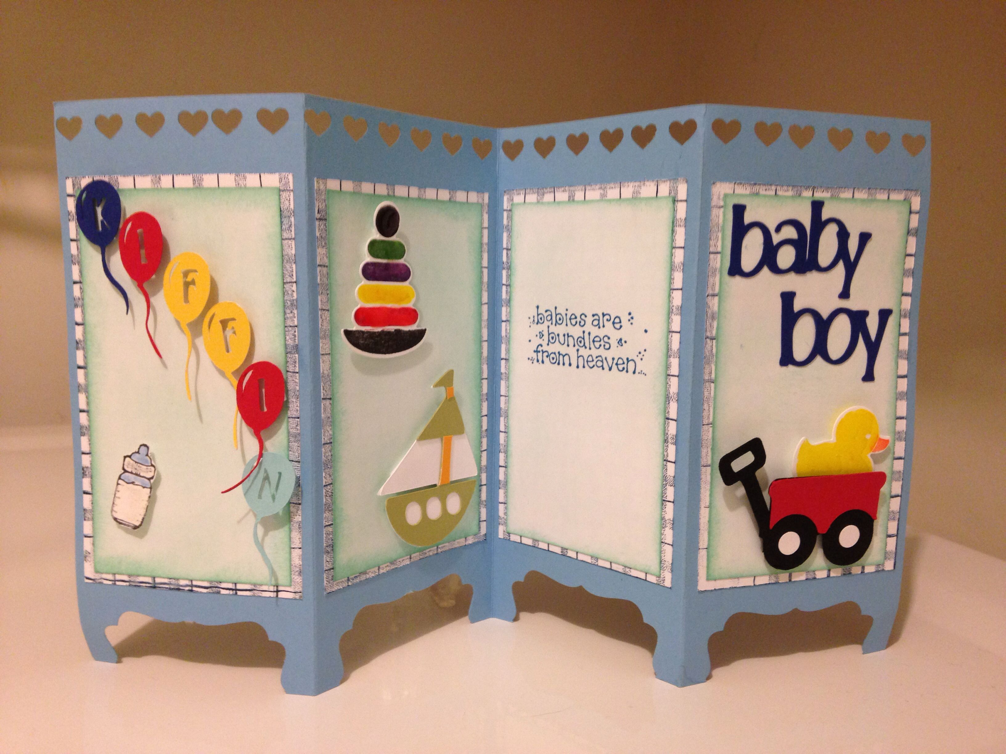 Handmade Card For A Baby Boy Screen Room Divider