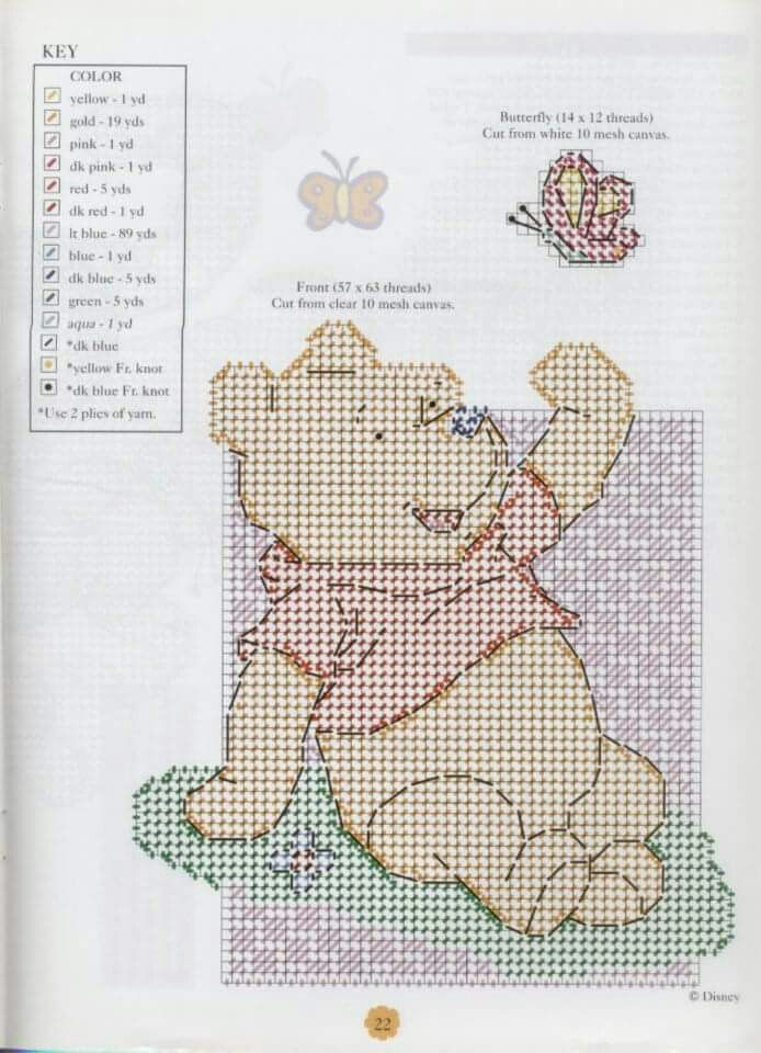Pooh For Baby 22 | Winnie the Pooh and Friends Plastic Canvas ...