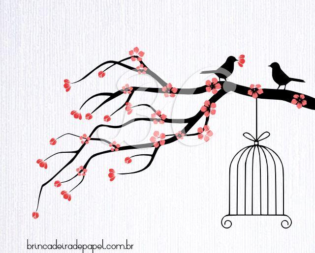 Imagens De Arvore Para Imprimir: Desenho De árvore Para Personalização De Convites De