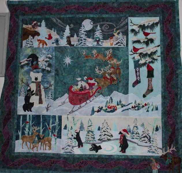McKenna Ryan Christmas quilt shared on MyQuiltPlace.com by Althea J. Foster.