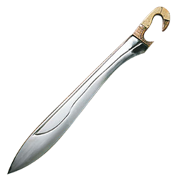 Kopis Sword With Bone And Brass Handle Best Pocket Knife