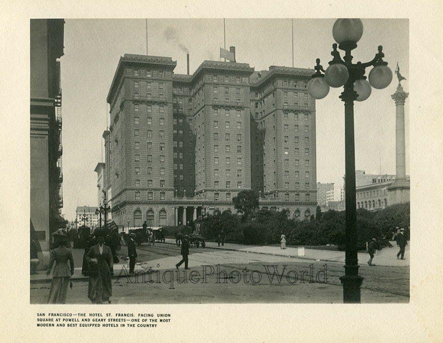 st francis hotel san francisco | Details about San Francisco St. Francis Hotel antique art photo CA