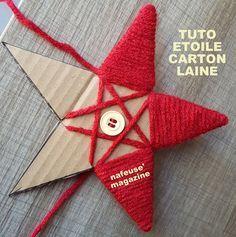 Tuto étoile De Noël En Carton Laine Favourit Christmas