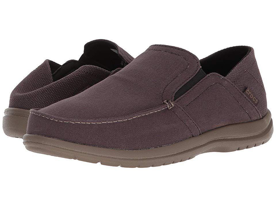 ffa1b3688c7 Crocs Santa Cruz Convertible Slip-On Men's Slip on Shoes Espresso/Walnut