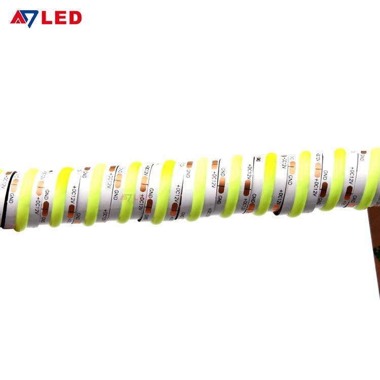 Cob Led Stripe Light Waterproof Flexible Led Strip Fixture 24v Yellow Led Strips Lights In 2020 Led Strip Lighting Led Flexible Strip Strip Lighting