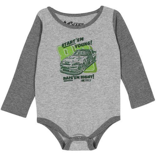 NASCAR Chase Authentics Dale Earnhardt Jr. Infant Car Graphic Long Sleeve Creeper - Ash (12 Months) by Football Fanatics. $17.95. Chase Authentics Dale Earnhardt Jr. Infant Car Graphic Long Sleeve Creeper - AshThree snaps on bottomImportedRib-knit collar90% Cotton/10% PolyesterScreen print graphicsTagless collarOfficially licensed NASCAR product90% Cotton/10% PolyesterScreen print graphicsThree snaps on bottomTagless collarRib-knit collarImportedOfficially licensed NASCAR product