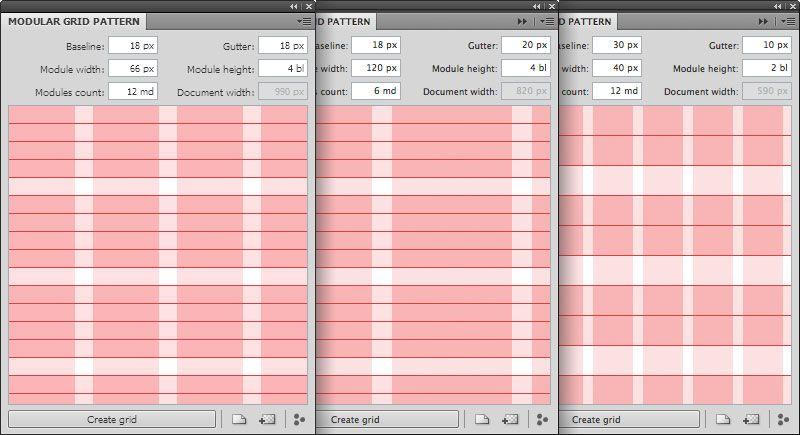 Modular Grid System   UX/UI, Templates   Free photoshop