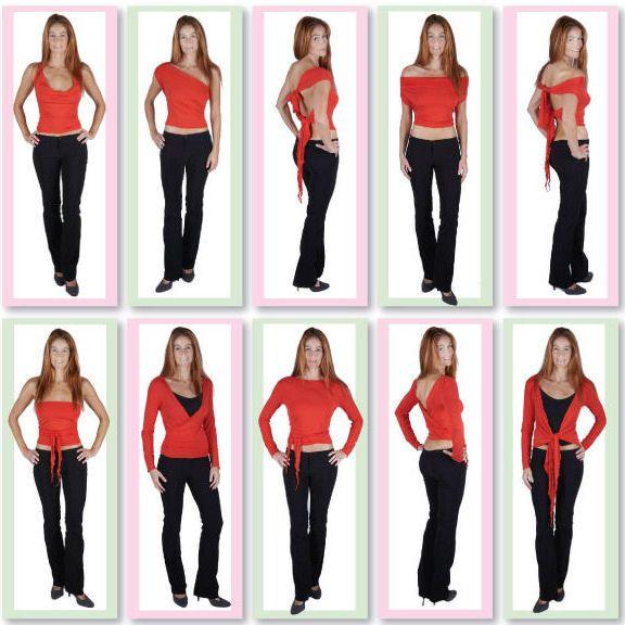 Short Mulitiwear Wrap Tops-Convertible winter tops, convertible ladies wrap tops, convertible clothing, many ways to wear tops.