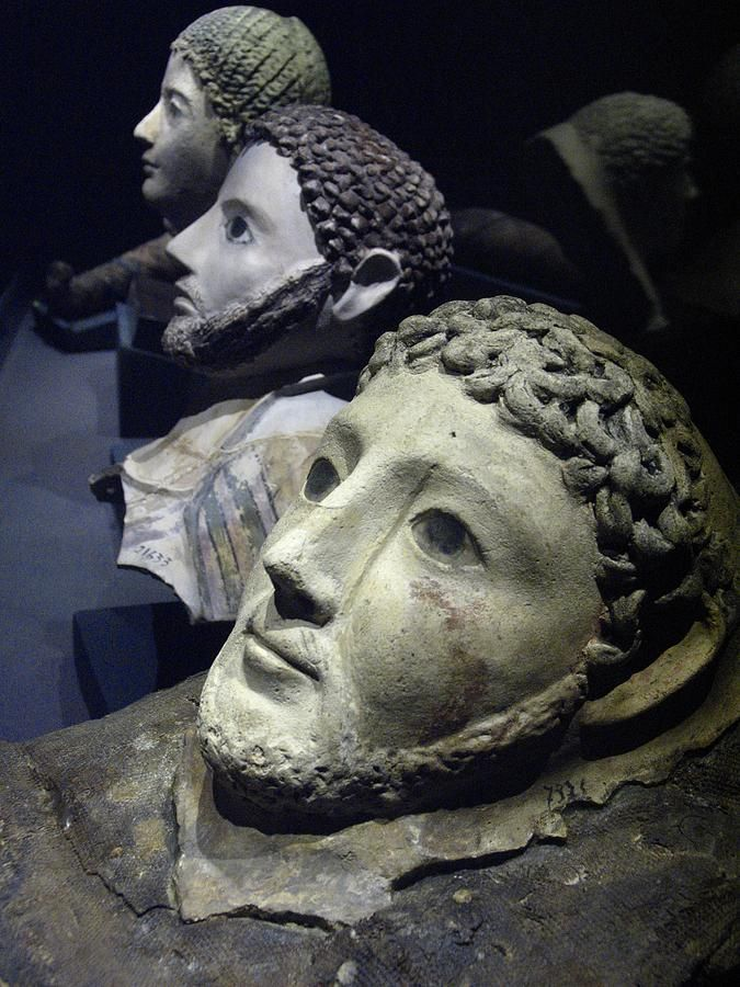 Roman death masks recovered from underwater excavations