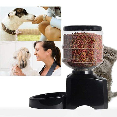 5 5l Automatic Pet Feeder Support Lcd Screen And Voice Message
