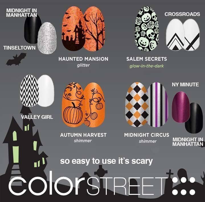 Color Street Nail Strips Www Prettyeasypolish Com Halloween Color Street Nails Color Street Nail Art Diy Easy