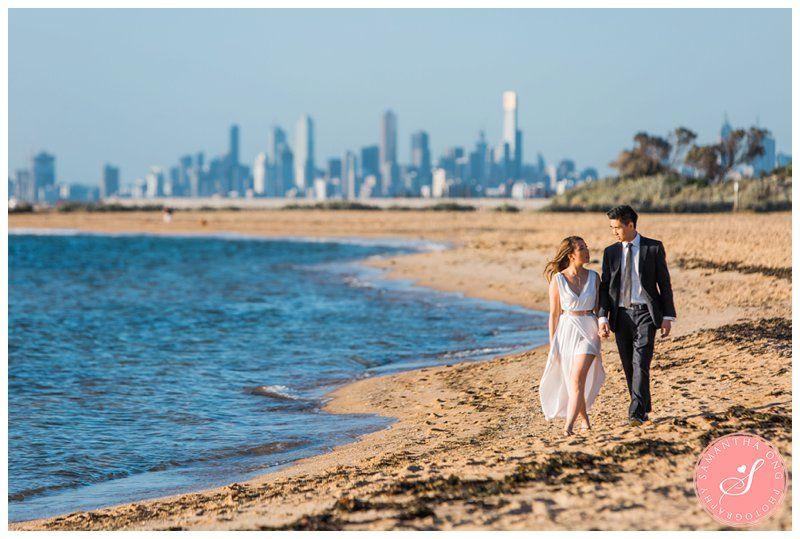 Melbourne Brighton Beach Pre Wedding Photos Trang Tung 2017 Samantha Ong Photography Www Samanthaongphoto Melbourneprewedding
