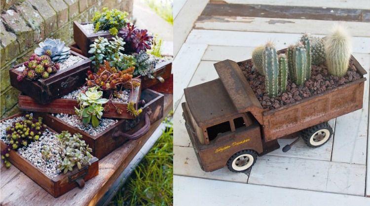 Gartenarbeit » Pflanzgefäße im Außenbereich \u2013 22 Ideen für
